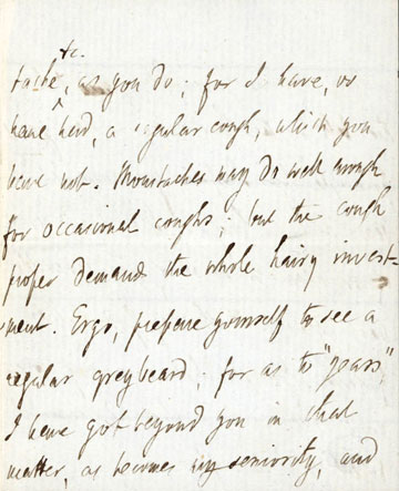 Leigh Hunt letter to Charles Ollier, 1854     Leigh Hunt Letters