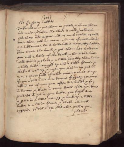 Anne Bayne cookbook, circa 1700 | Szathmary Culinary Manuscripts and Cookbooks