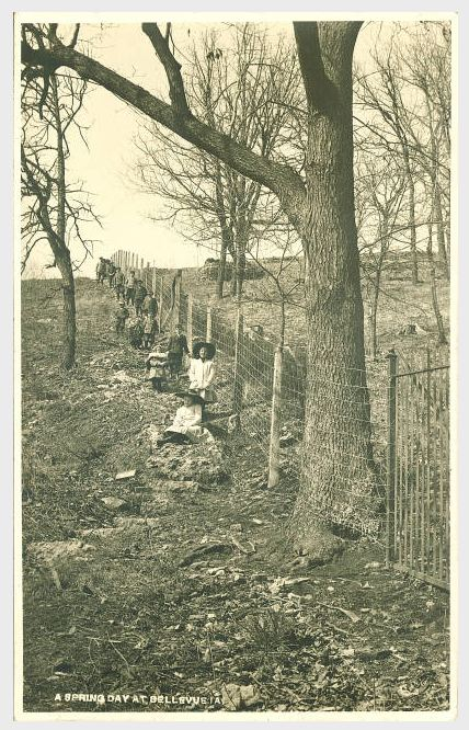 """""""A spring day at Bellevue IA,"""" 1910s"""