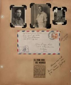 Iowa Digital Library: Evelyn Birkby World War II scrapbook, 1942-1944. Iowa Women's Archives