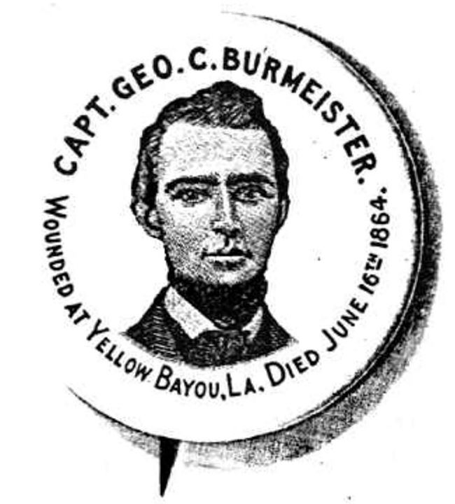 Burmeister image via Ancestry.com and the Muscatine in the Civil War Facebook group