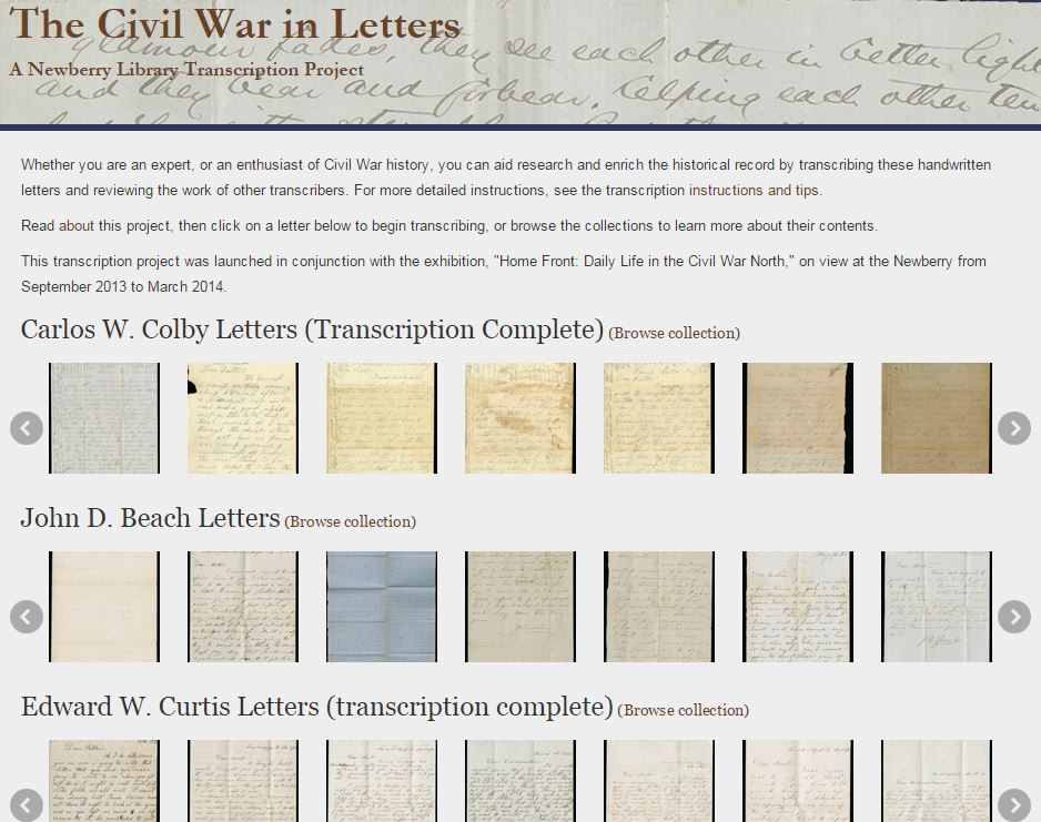 The Civil War in Letters | The Newberry Library