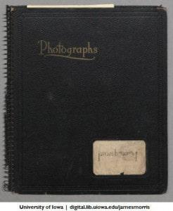 James B. Morris Jr. photo album cover, 1937-1941
