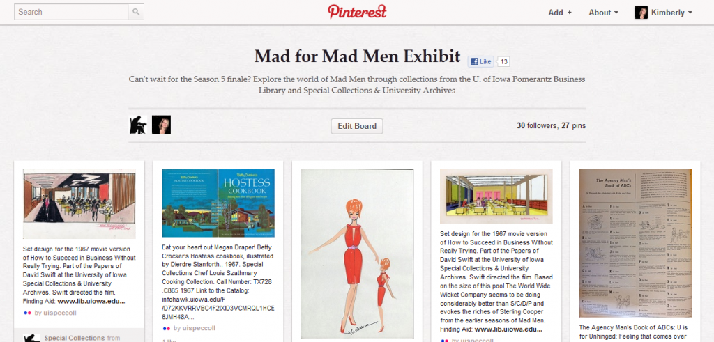 Mad for Mad Men Exhibit from the UI Biz Lib and Special Collections
