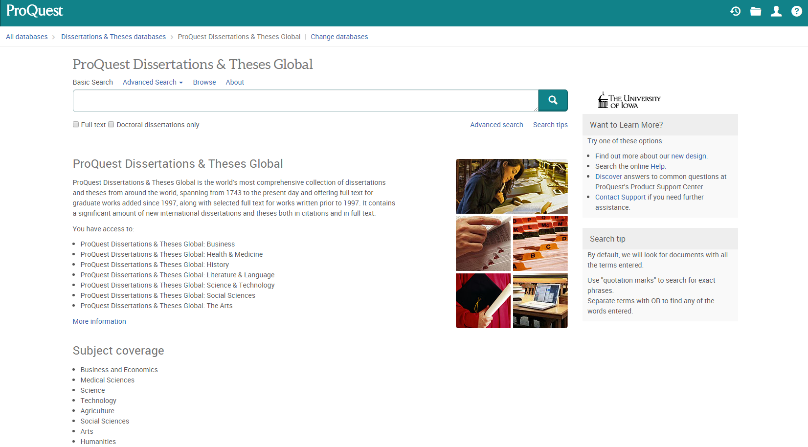 proquest dissertations & theses global Global etd search search the 5,111,718 electronic theses and dissertations contained in the ndltd archive.