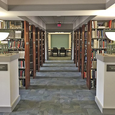 Book collection on the 4th floor