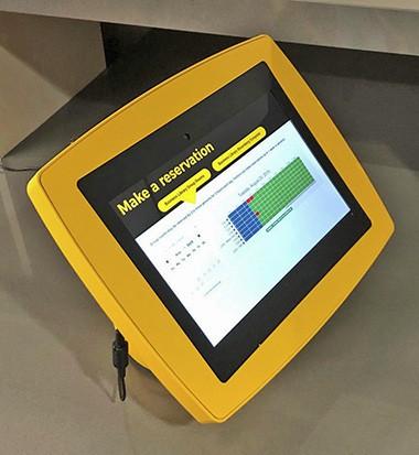 service desk reservation kiosk
