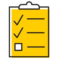 A clipboard with checklist