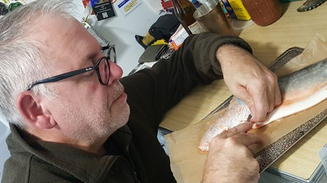 Peter at the workbench