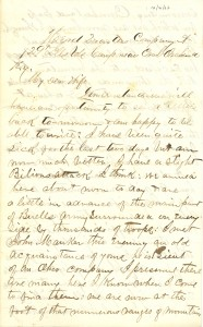 Joseph Culver Letter, October 16, 1862, Page 1