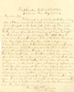Joseph Culver Letter, August 24, 1863, Page 1