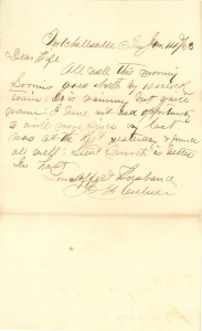 Joseph Culver Letter, January 14, 1863, Page 1