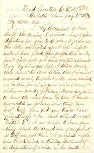 Joseph Culver Letter, July 2, 1863, Page 1