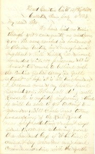 Joseph Culver Letter, July 6, 1863, Page 1