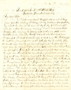 Joseph Culver Letter, October 14, 1863, Page 1