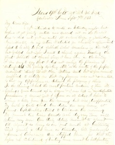 Joseph Culver Letter, September 7, 1863, Letter 2, Page 1