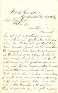Joseph Culver Letter, August 14, 1862, Page 1