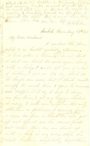 Joseph Culver Letter, August 28, 1863, Page 1
