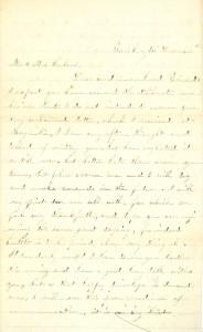 Joseph Culver Letter, December 2, 1863, Page 1