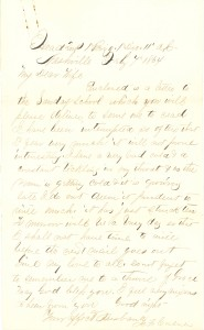 Joseph Culver Letter, February 7, 1864, Page 1