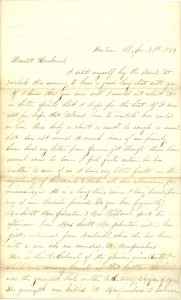 Joseph Culver Letter, January 31, 1863, Page 1