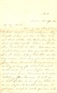 Joseph Culver Letter, January 9, 1863, Page 1