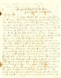 Joseph Culver Letter, October 31, 1863, Letter 2, Page 1