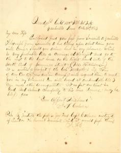 Joseph Culver Letter, October 31, 1863, Letter 3, Page 1
