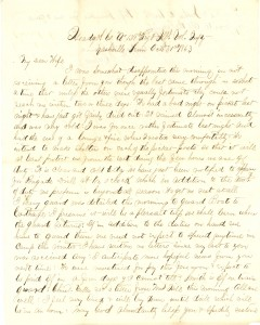 Joseph Culver Letter, October 31, 1863, Page 1