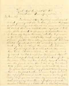 Joseph Culver Letter, April 24, 1864, Letter 2, Page 1