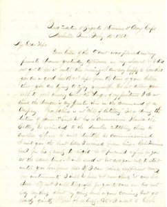 Joseph Culver Letter, February 16, 1864, Page 1