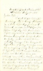 Joseph Culver Letter, February 17, 1864, Page 1