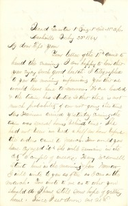 Joseph Culver Letter, February 22, 1864, Page 1