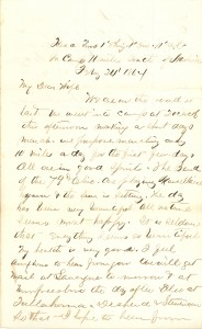 Joseph Culver Letter, February 24, 1864, Letter 2, Page 1