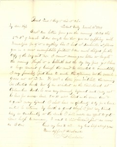 Joseph Culver Letter, March 13, 1864, Page 1