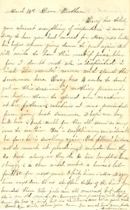 Joseph Culver Letter, March 14, 1864, Page 1