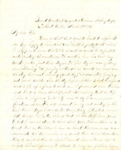 Joseph Culver Letter, March 17, 1864, Page 1