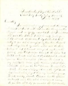 Joseph Culver Letter, March 20, 1864, Letter 2, Page 1