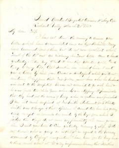 Joseph Culver Letter, March 20, 1864, Page 1