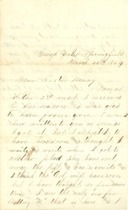 Joseph Culver Letter, March 22, 1864, Page 1