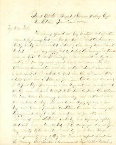 Joseph Culver Letter, March 27, 1864, Page 1