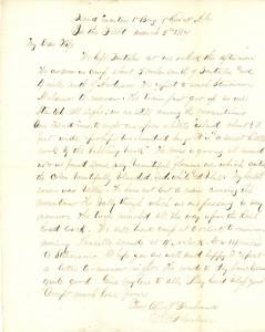 Joseph Culver Letter, March 5, 1864, Page 1
