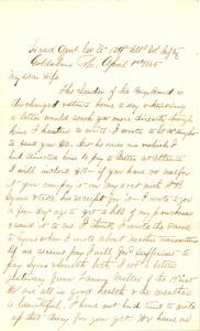 Joseph Culver Letter, April 1, 1865, Page 1