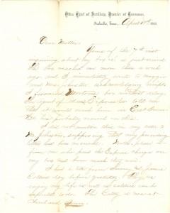 Joseph Culver Letter, April 10, 1865, Page 1
