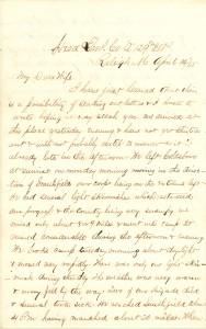 Joseph Culver Letter, April 14, 1865, Page 1