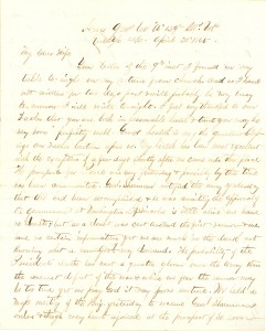 Joseph Culver Letter, April 20, 1865, Page 1
