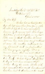 Joseph Culver Letter, April 4, 1865, Page 1