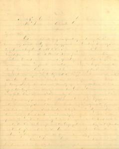 Joseph Culver Letter, August 14, 1864, Page 1