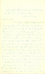 Joseph Culver Letter, August 5, 1864, Page 1