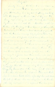 Joseph Culver Letter, July 24, 1864, Page 1